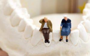 Elderly couple sitting on jawbone